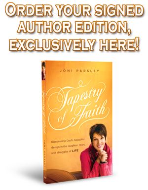 Order your copy of Joni Parsley's new book - Tapestry of Faith